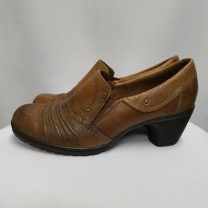 Earth Origins Shoes - Earth Origins Tan Leather Ankle Boots Booties 7